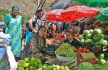 Tadżykistan - piękności z bazaru.
