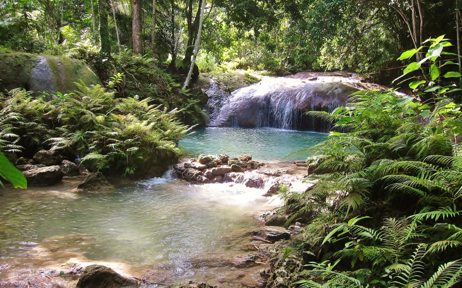 Waterfall in the island of Siquijor. The Visayas, Philippines.