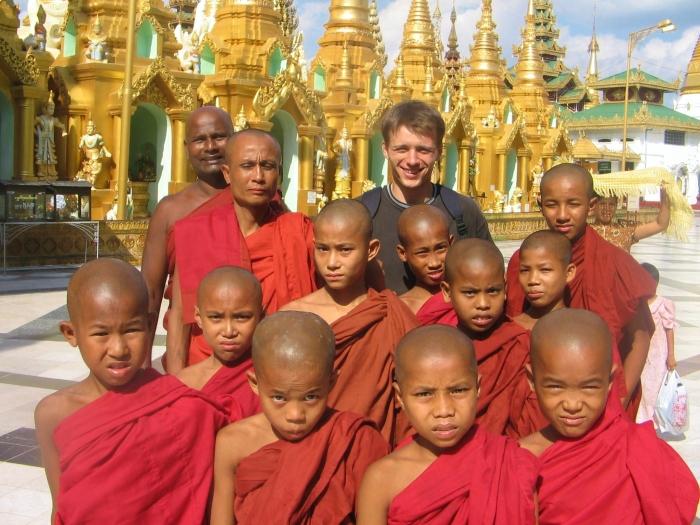 Birma - Shwedagon Pagoda.