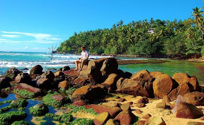 Mirissa. Południowe wybrzeże Sri Lanki.