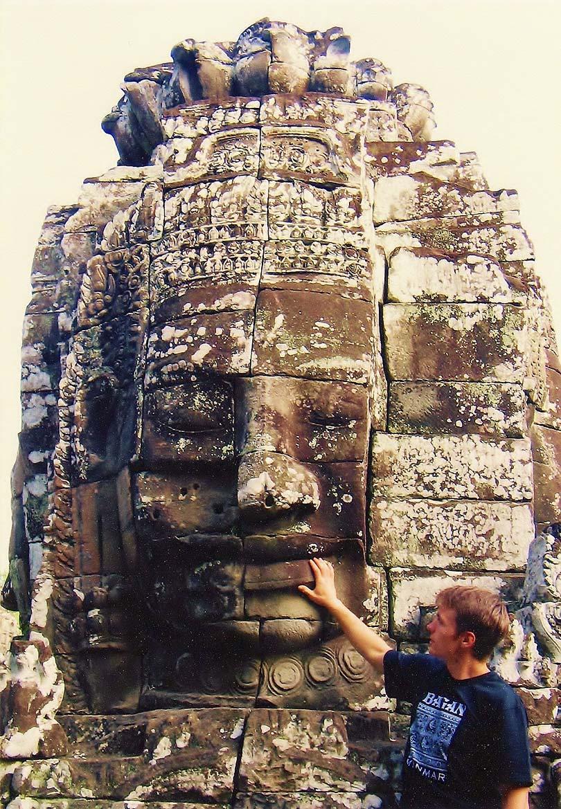 Angkor Wat w Kambodży. Bayon.