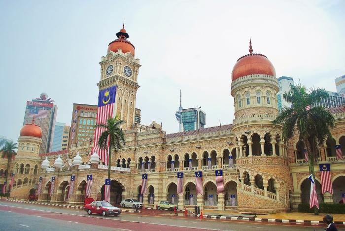 Plac Merdeka w Kuala Lumpur. Malezja.