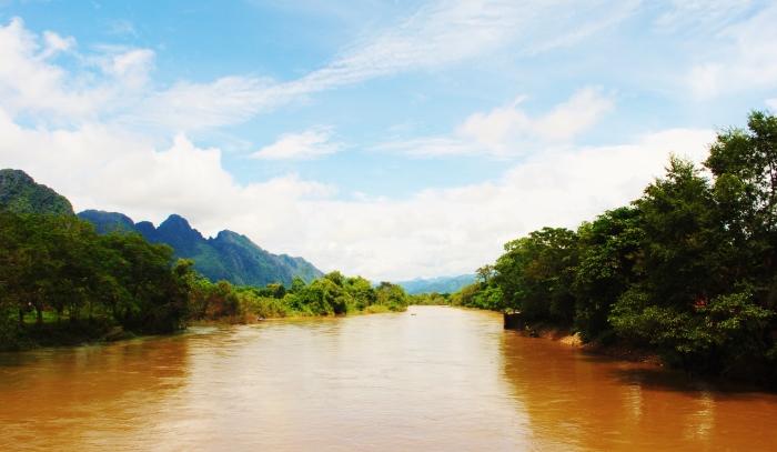 Rzeka Mekong w Laosie.