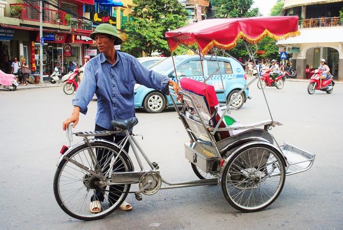 Rykszarz w Hanoi, w Wietnamie