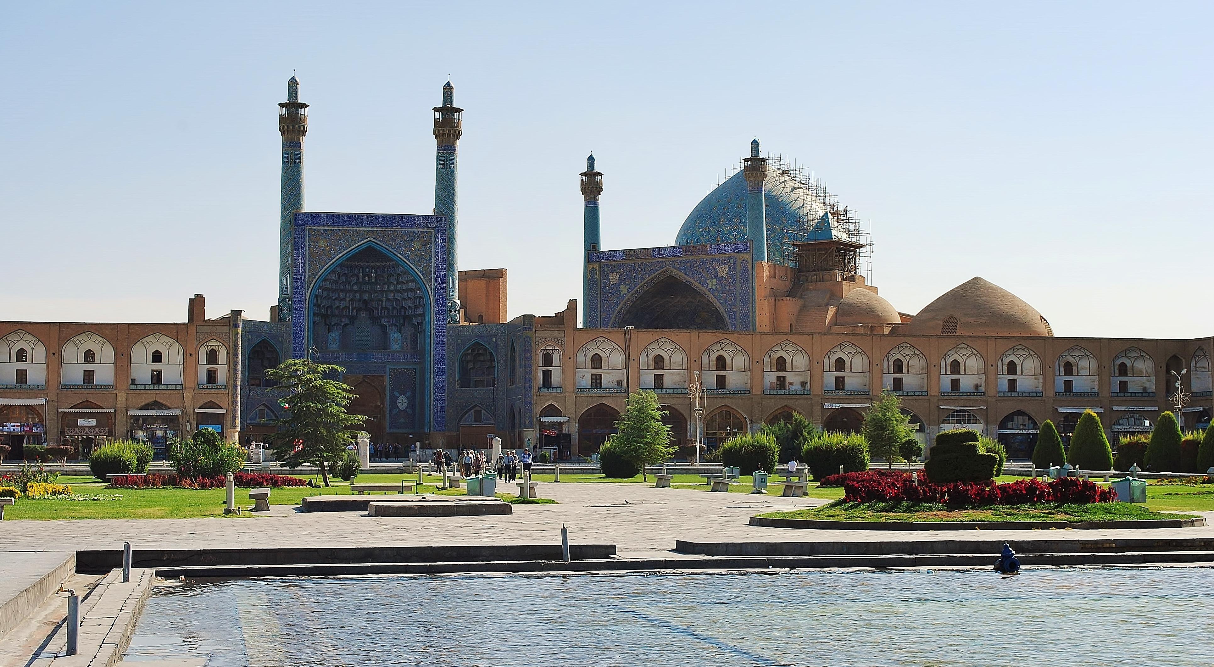Iran; Esfahan - meczet na Placu Chomeiniego.