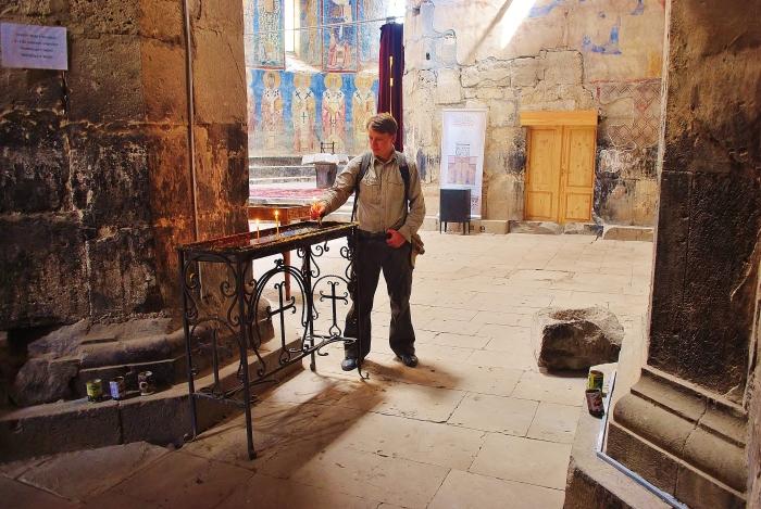 Armenia - w monasterze Akhtala.