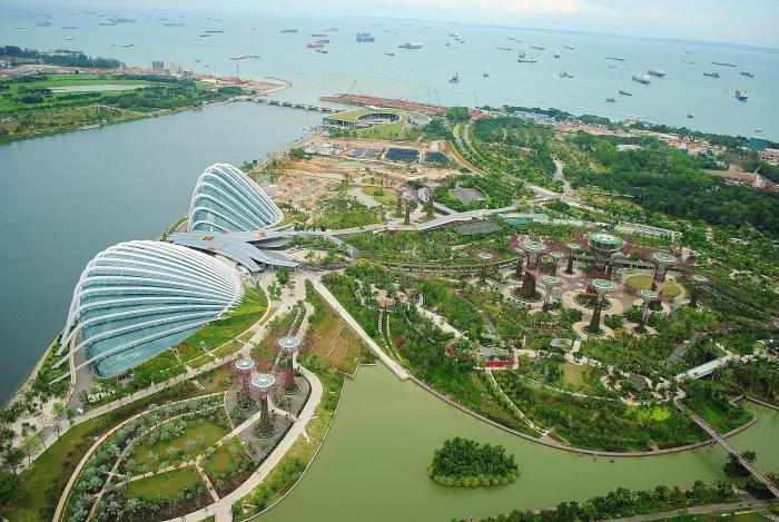 Gardens by the Bay - zdjęcie z roku 2012 gdy byłem w Singapurze po raz drugi.