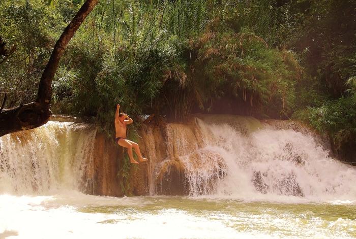 Laos wodospady.