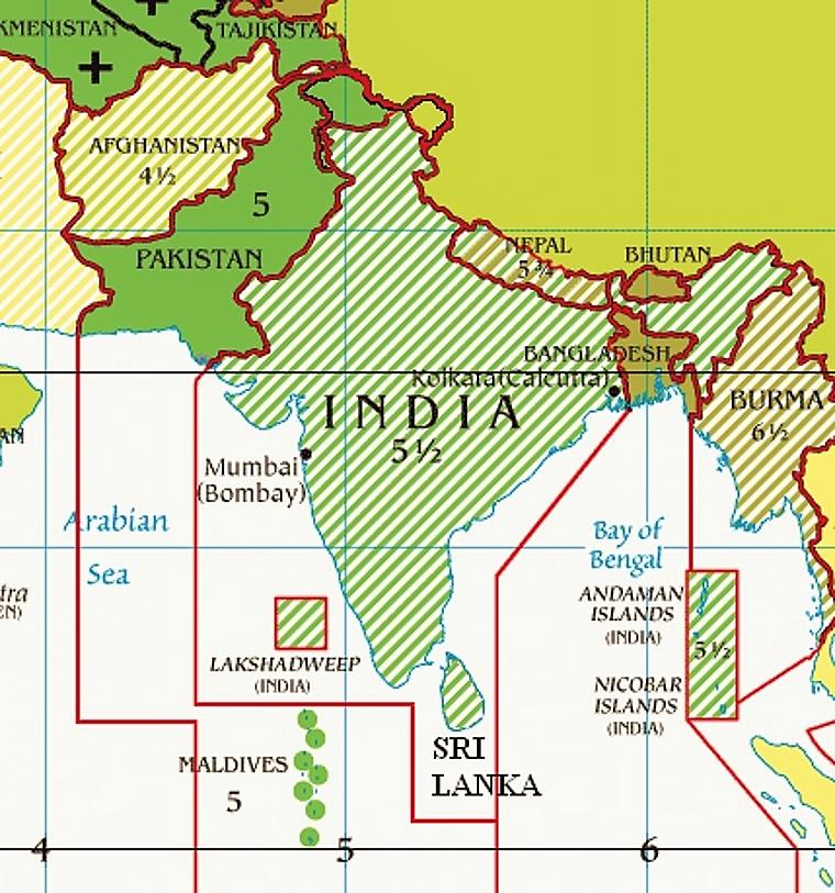Indie strefa czasowa