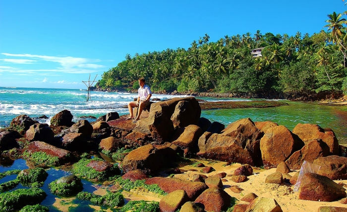 Sri Lanka - on a beach in Mirissa.