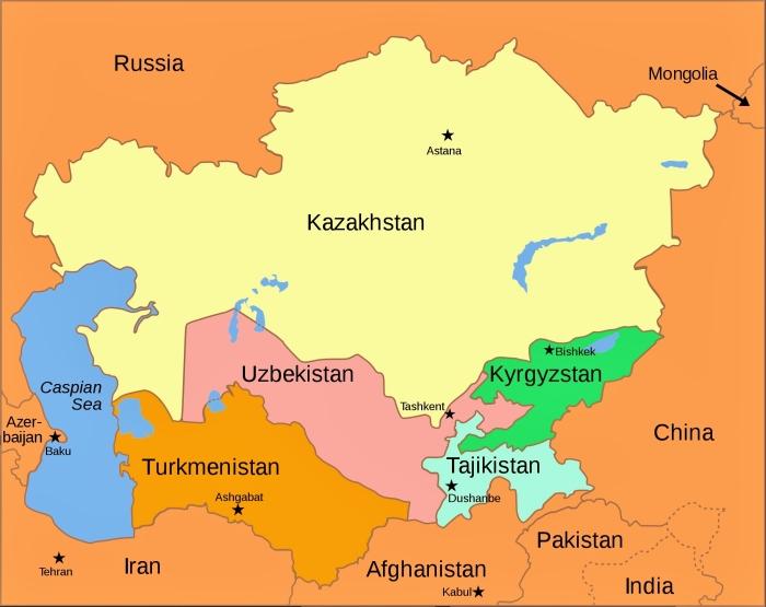 Posowieckie republiki Azji Cetralnej.