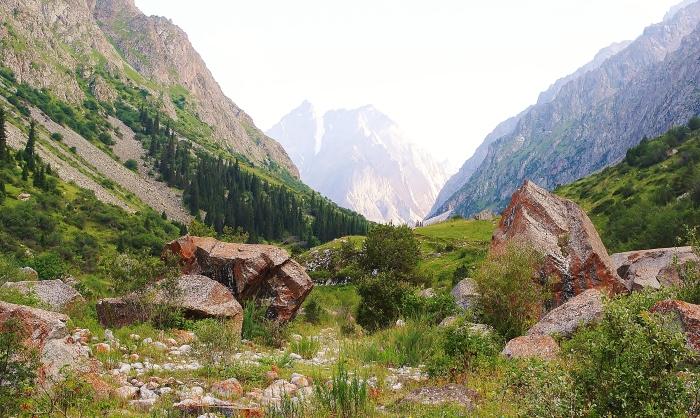 Kirgistan - region Ala Archa niedaleko stolicy kraju Bishkek