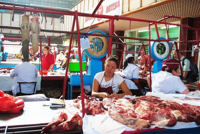 Almaty - Zielony bazar;