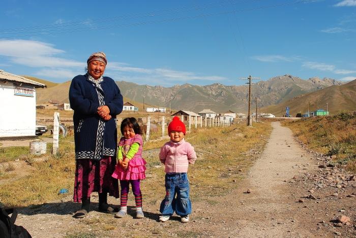 Ludzie w Sary Tash.
