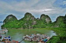 Wietnam - Zatoka Halong; (Zatoka Tonkińska).