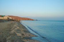 Azerbejdżan - plaża nad Morzem Kaspijskim.