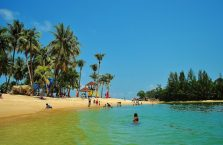 Singapur - wyspa Sentosa, Cieśnina Singapurska.