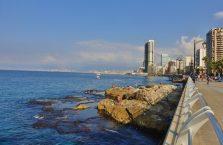 Liban - Morze Śródziemne i widok na Bejrut.