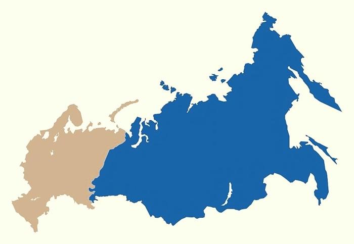 Mapa Azji Północnej