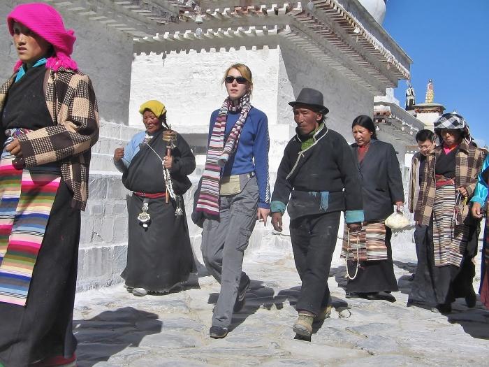 Tashilhunpo w Shigatse, Tybet.