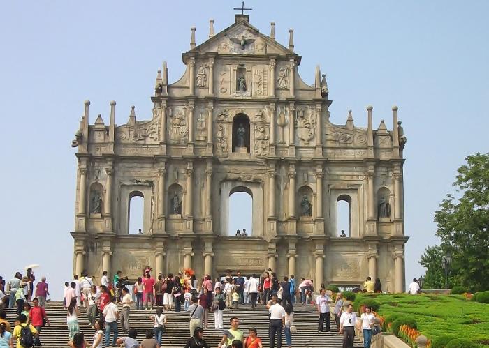 Makao - ruiny katedry św. Pawła.