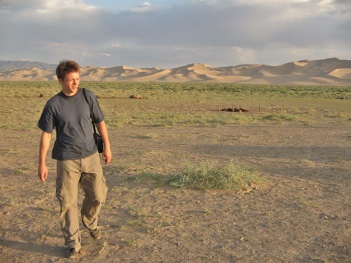 Na pustyni Gobi w Mongolii.