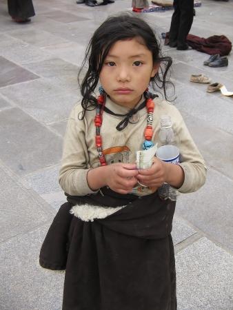 Tybetańska dziewczynka.