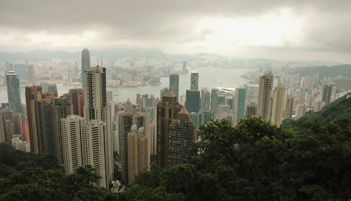 Widok ze Szczytu Victorii. Hong Kong.
