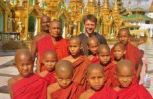 Birma - z mnichami.