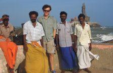 Indie - z rybakami w Kanyakumari.