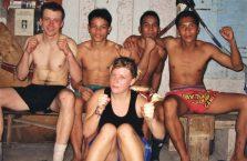 Tajlandia - po treningu Thai-boxingu.
