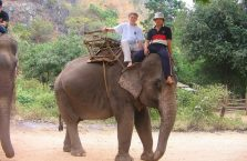 Tajlandia - jazda na słoniu.