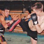 Tajlandia - mój trener Thai-boxingu.