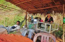 Kambodża - na stoisku z trzciną cukrową.