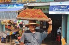 Birma - sprzedawca owoców.