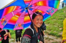 Wietnam - kobieta w górach niedaleko Sapy.