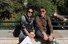 Iran - z młodą kobiety.