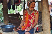 Tajlandia - kobieta z północnej wioski.
