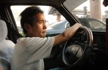 Chiny - kierowca taskówki.