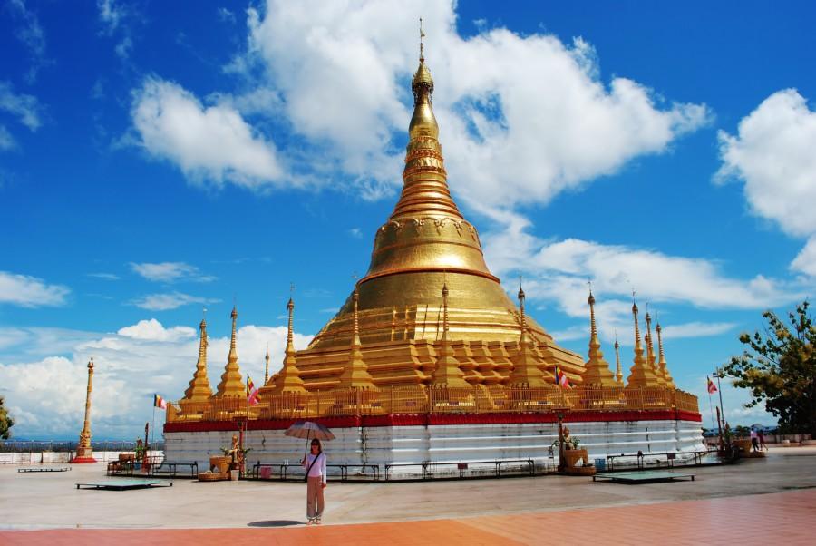 Birma Myanmar Złota Pagoda.