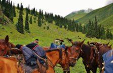 Kirgistan - konie.
