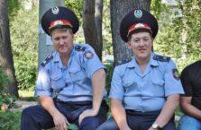 Kazachstan - policjanci.