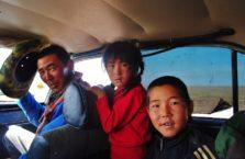 Kirgistan -ludzie, którzy mnie podwieźli.