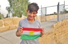 Iracki Kurdystan - młody kurdyjski patriota.