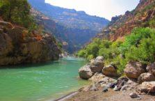 Irak (Kurdystan) - moja dzika plaża w kanionie niedaleko wodospadu Gali Ali Berg.