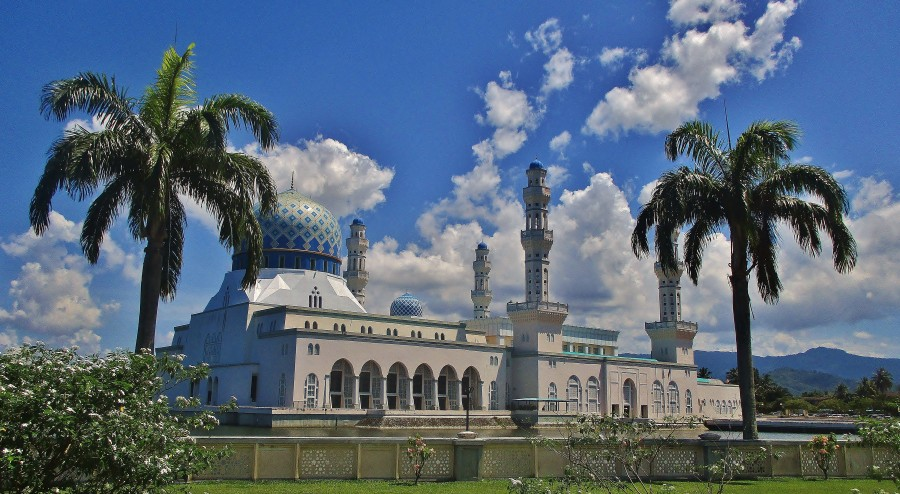 City mosque Kota Kinabalu.