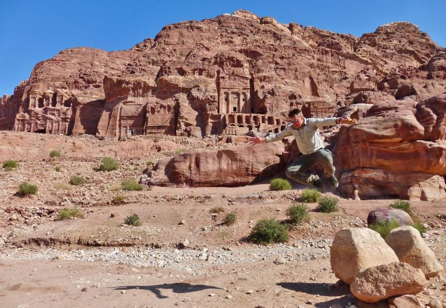Royal Tombs seen from the Fasade Street. Petra, Jordan.