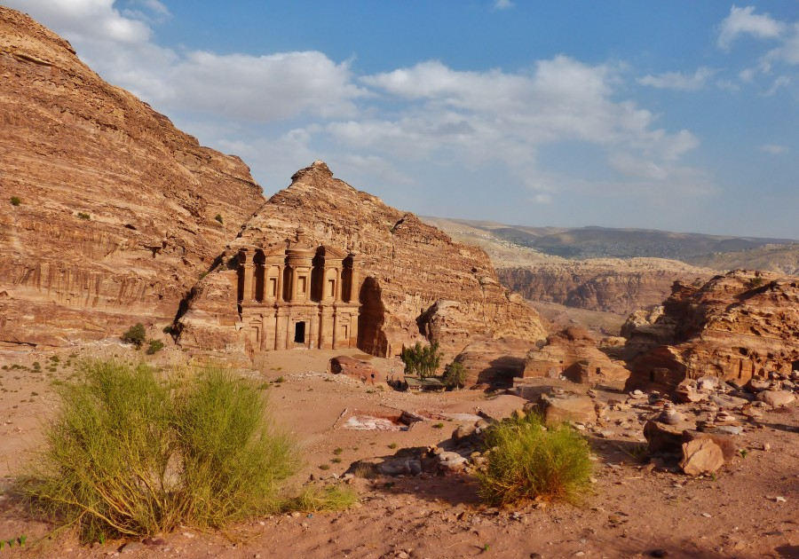 Klasztor Al-Deir. Petra, Jordania.