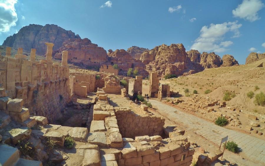 Ulica Kolumnowa. Petra, Jordania.